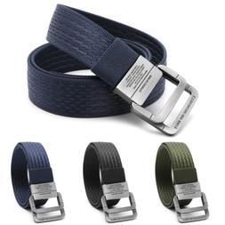 Men Military Equipment Tactical Canvas Belt Fashion Double R