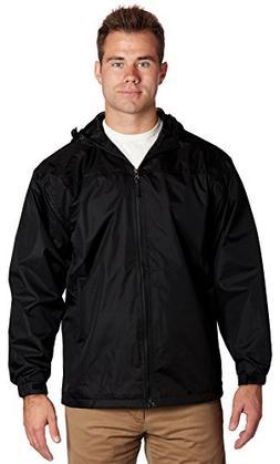 Equipment De Sport USA Men's Hooded Water Resistant Front Zi