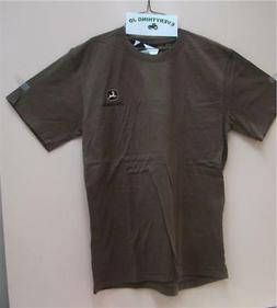 Men's John Deere Trademark Equipment 1837 Brown T-Shirt