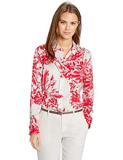 Equipment Women's Mini Floral Brett Silk Shirt, NTR White BL