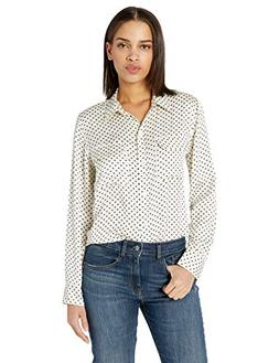 Equipment Women's Mini Star Slim Signature Shirt, NTR White