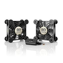 AC Infinity MULTIFAN S5, Quiet Dual 80mm USB Fan for Receive