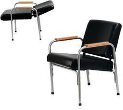 Natural Oak Arm Shampoo Chair Auto Reclining Barber Beauty S