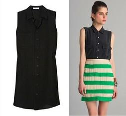 NEW $188 Equipment Signature Silk sleeveless Blouse Shirt Bl
