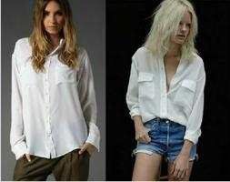 "NEW $208 Equipment ""SLIM"" Signature Silk Blouse Shirt ""Brigh"