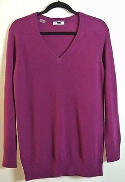 NEW Equipment 'Asher' V-Neck Cashmere Sweater Purple Size XS