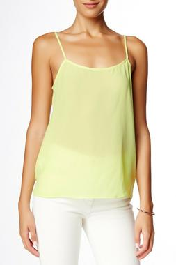 NEW Equipment Femme Cara Silk Cami Tank Top Yellow Sz S $98