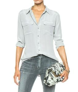 New Equipment Slim Signature Silk Shirt Size Large, $288