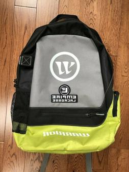 New Warrior Empire Lacrosse Large Black/Chartreuse Backpack