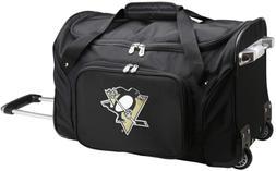 """NHL Pittsburgh Penguins Wheeled Duffle Bag, 22 x 12 x 5.5"""","""