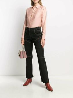 nwot 280 leema fitted silk jacquard shirt