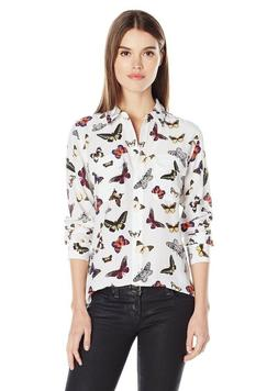 NWOT Equipment Slim Signature Button Down Top in Butterfly P