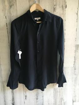 NWT $238 EQUIPMENT FEMME 'Daphne' 100% Silk Blouse Black