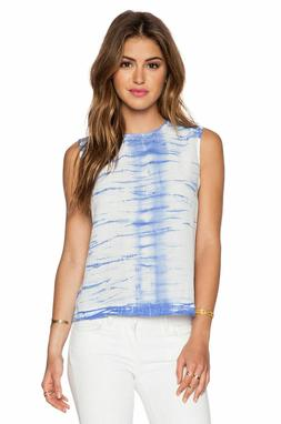 NWT Equipment Femme Reagan Silk Tank Top Amparo Blue Sz M