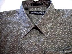 NWT Medium Equipment Men's Long Sleeve Button Front Shirt Gr