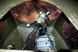 observatory tent for telescope equipment protection light