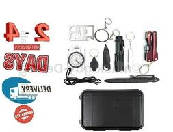 outdoor Emergency Equipment SOS Kit First Aid Box Supplies F