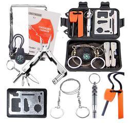 Outdoor SOS Emergency Equipment First Aid Box Supplies Survi