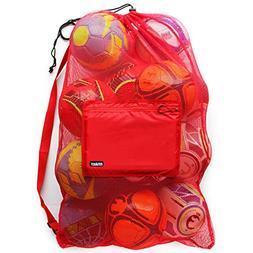 Personal Soccer Ball Gear Bag Mesh Storage Net Backpack Equi