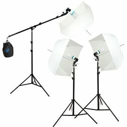 Studio Photography Photo Equipment White Softbox Umbrella Bo