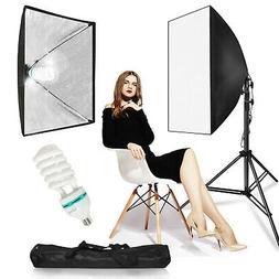 Photography Photo Studio Lighting Kit Softbox Stand Photo Eq