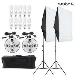 Andoer Photography Studio Video Lighting Tent Bulbs Tripod S