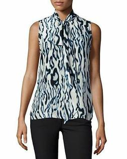 Equipment Femme Poppy Abstract Top, Marshmallow, M
