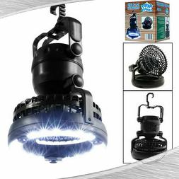 2 In 1 Portable LED Camping Light Lantern Ceiling Fan Tent L
