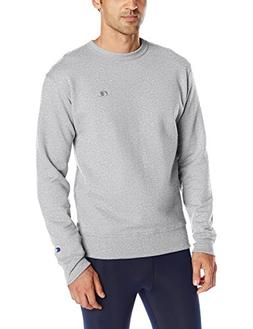 Champion Men's Powerblend Sweats Pullover Crew Oxford Grey S