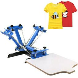 4 Color Screen Printing Press Machine Silk Screening Pressin