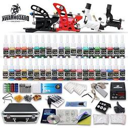 Professional Rotary Tattoo Machine Kit Equipment 4 Gun Power