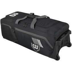 Wilson Pudge 2.0 Baseball Bag on Wheels-Black SKU: WTA9721BL