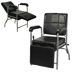 Reclining Shampoo Chair with Adjustable Leg Rest Barber Beau