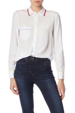 Equipment Reese Silk Shirt: Size Small: White
