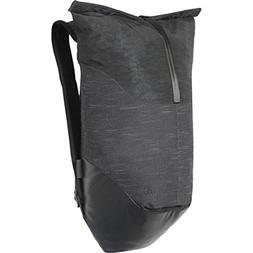 roll daypack black slub weave