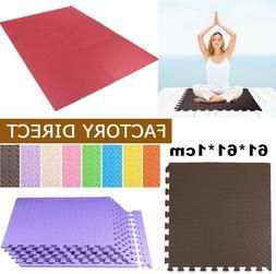 Rubber Gym Floor Mat Foam Flooring Exercise Workout Fitness