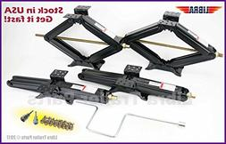 "Set of 4 5000 lb 24"" RV Trailer Stabilizer Leveling Scissor"