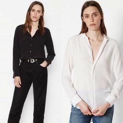 ~Sale! Equipment ESSENTIAL SILK SHIRT BRIGHT WHITE TRUE BLAC