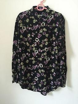 SALE! Equipment floral print shirt Size S