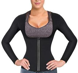 Women Sauna Suit Waist Trainer Neoprene Shirt for Sport Work