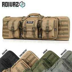 SAVIOR EQUIP Tactical Double Rifle Bag Gun Range Padded Soft