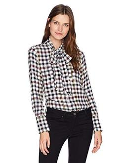 Equipment Women's Scholar Plaid Reverse Satin Luis Blouse, B