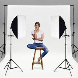 Set of 2 Lighting Softbox Stand Photography Photo Equipment