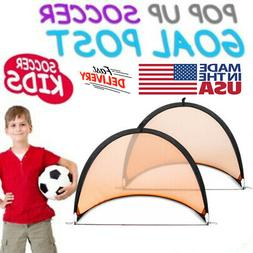 Set of 2 Portable Pop-Up Soccer Goals Portable Soccer Nets W