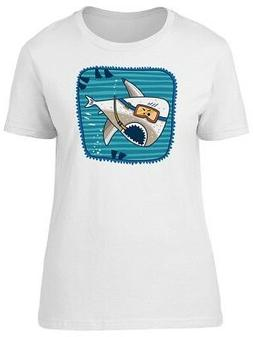 Shark With Scuba Equipment Women's Tee -Image by Shutterstoc