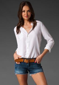 Equipment Silk Blouse Brett women Shirt BRIGHT WHITE XS S M