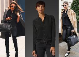 Equipment Silk Blouse BRETT Women Shirt Top Black XS S M 0 2