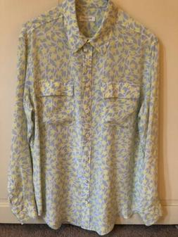 Equipment silk blouse medium EUC