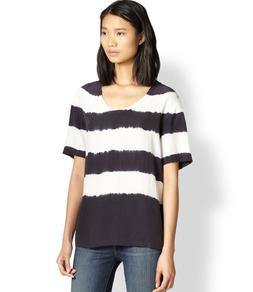 silk cameron tee xs black top blouse