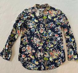 Equipment Silk Floral Shirt Size Small